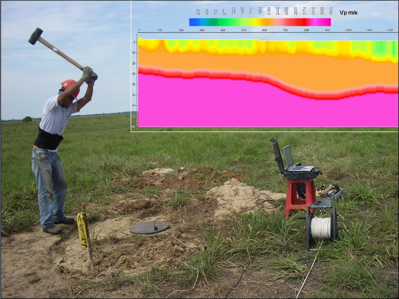 Prospección sísmica por refracción