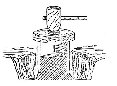 muestras inalteradas bloque hinca cilindro